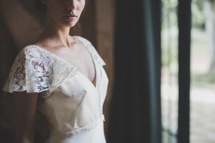 Robe de mariée cuir blanc Les Mariées Fox - Elina