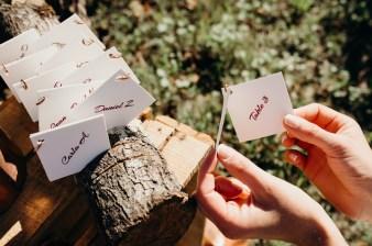 marque place pour un mariage