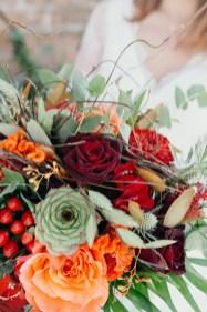 Bouquet de mariée en automne