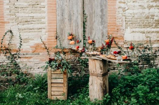 buffet pour un mariage en automne