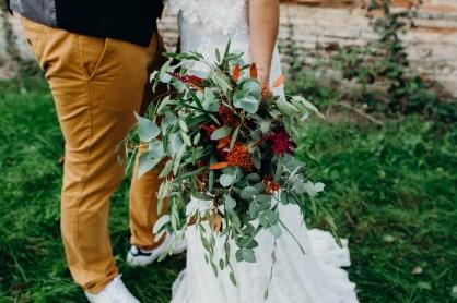 bouquet de fleurs sauvages en automne