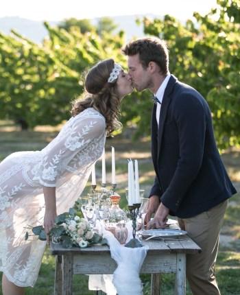 Un mariage vintage dans les champs de cerisiers de Provence