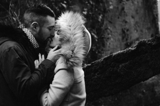 Love session en hiver