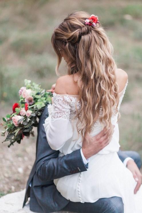 Coiffure de mariée bohème