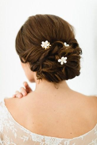 """Trio de pics à chignon """"Elisa"""" pour votre chignon de mariée"""