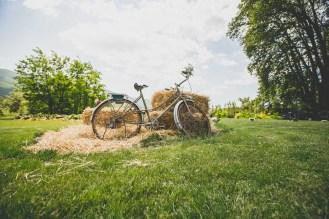 Vélo vintage pour décoration d'un mariage