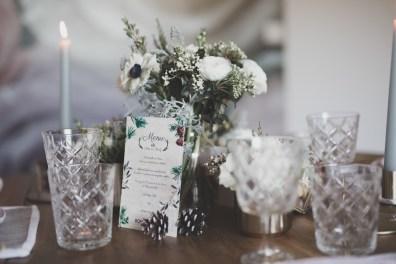 Vaisselle cristal pour table de mariage