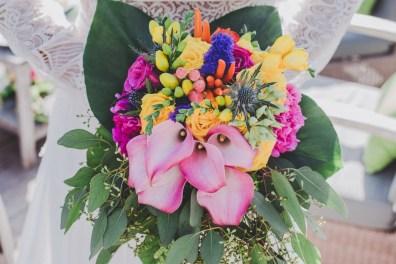 Bouquet de mariée tropical