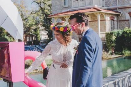 Cabine photo pour un mariage