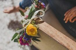 Couronne de fleurs jaune