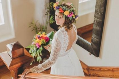 Mariée tropicale et chic
