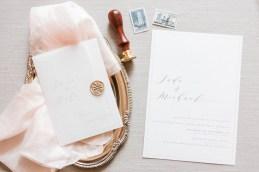 Faire-part de mariage avec un sceau