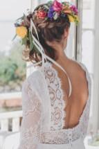 Robe de mariée dos nu et en dentelle