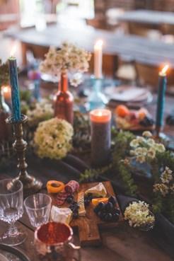 Buffet de mariage à la bougie
