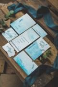 Papeterie de mariage aquarelle bleu