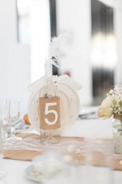 Numéro de table sur une bouteille