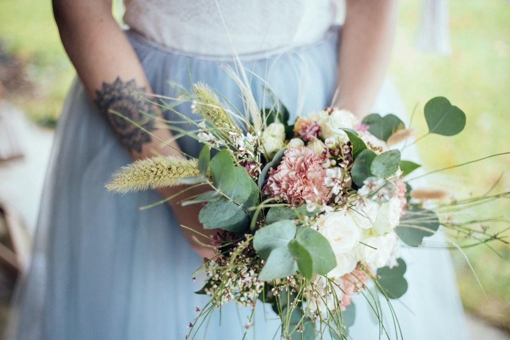 Bouquet de mariée éco-responsable