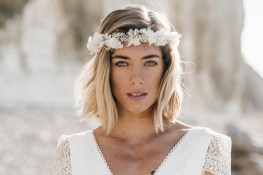 Lorafolk Collection 2019 Robe de mariée Couronne de fleurs