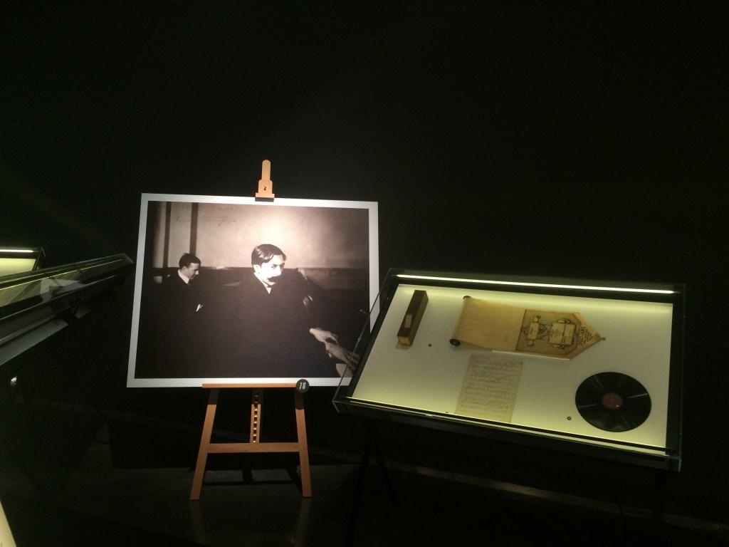 Rollos de pianola originales en la exposición