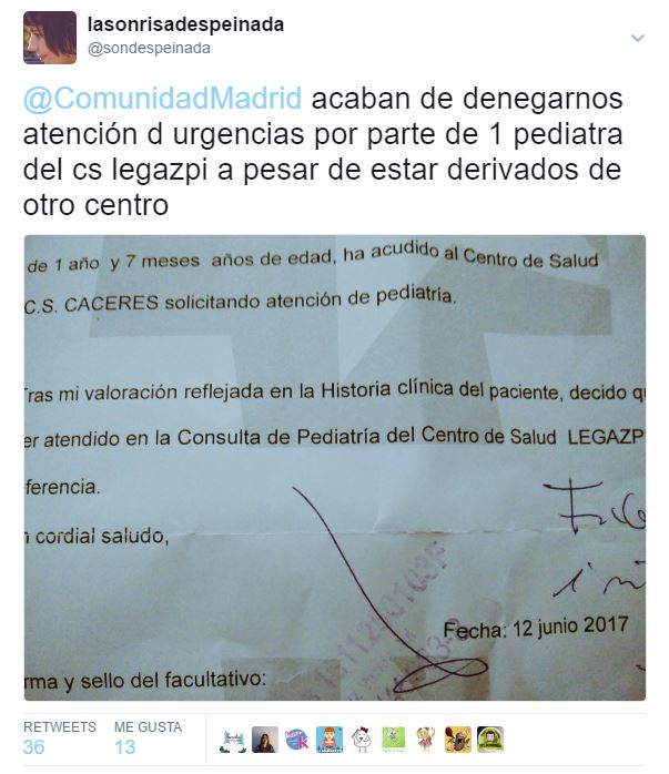 Carta a una pediatra
