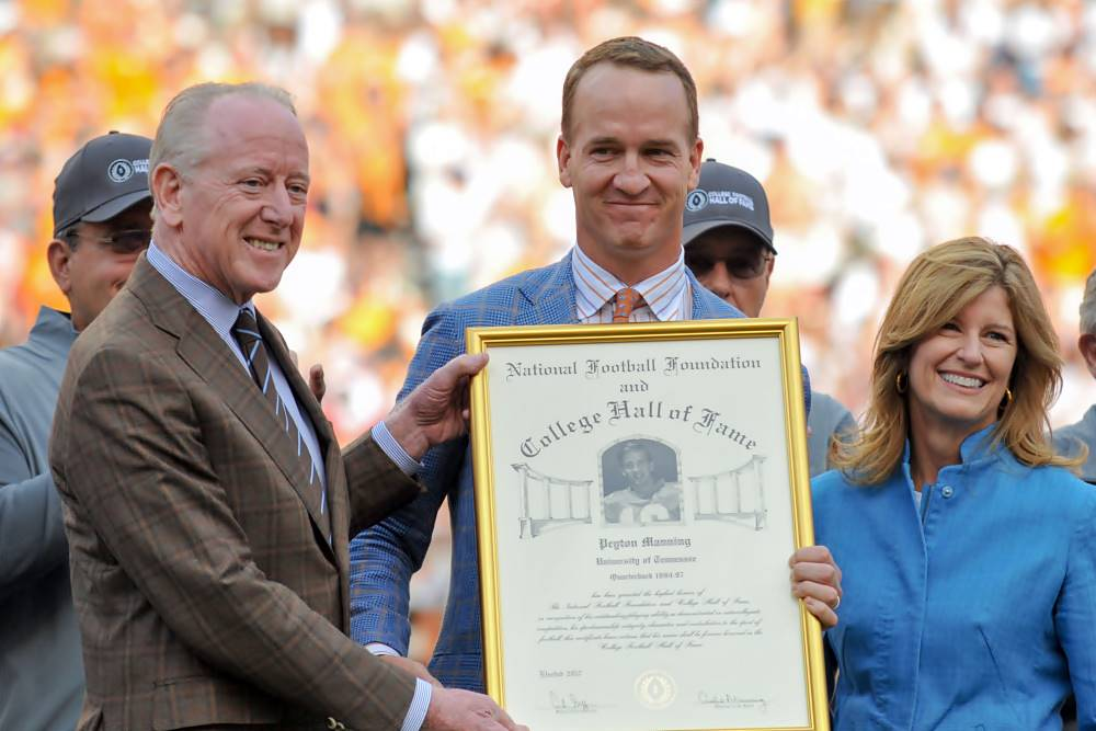 Peyton Manning's Hall of Fame football exploits were a family affair