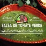 Salsa de Tomate Verde