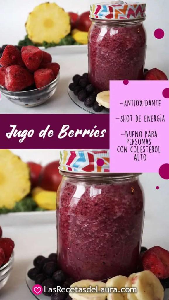 jugo de berries