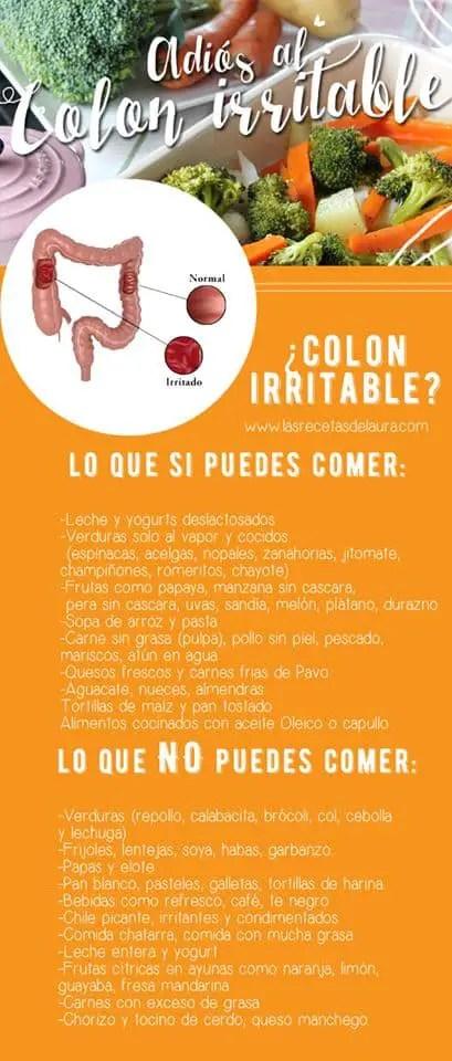 alimentos que no se deben comer con colon inflamado