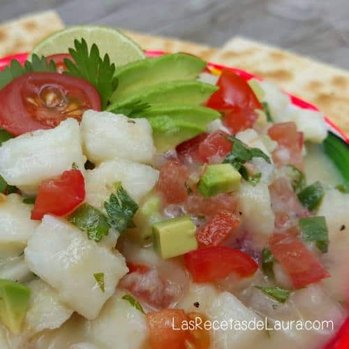 ceviche a la mexicana- las recetas de laura