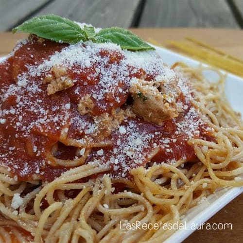 Spaghetti a la bolognesa | Las recetas de laura