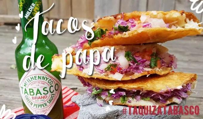 Tacos de papa | Las recetas de Laura