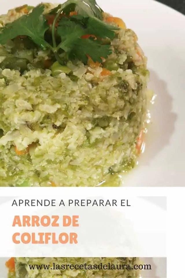 arroz de coliflor - las receta de laura