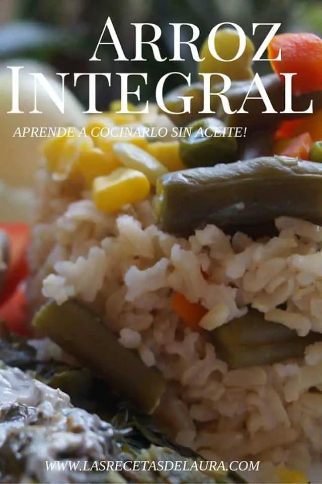 arroz integral - las recetas de laura