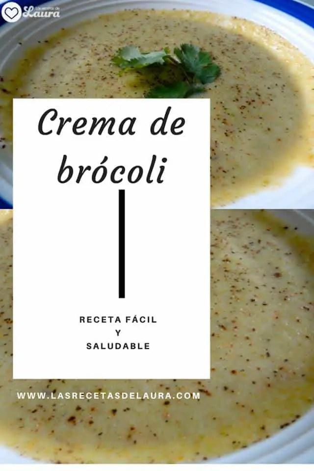 Crema de Brocoli Light   Las Recetas de Laura