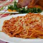 espagueti rojo - las recetas de Laura