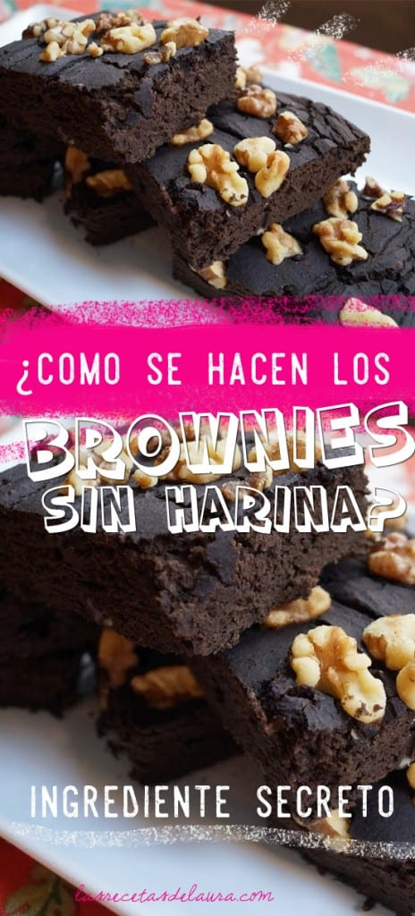 brownies sin harina - las recetas de laura