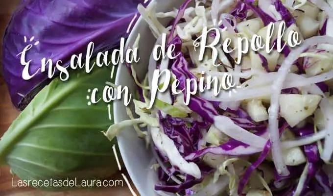 Ensalada de repollo con pepino   las recetas de Laura