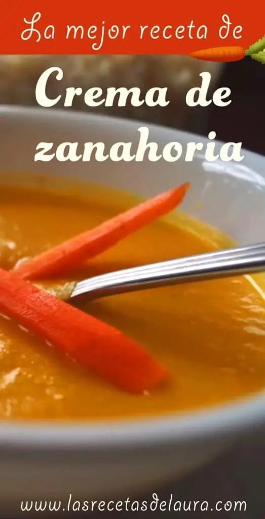 crema de zanahoria - las recetas de Laura