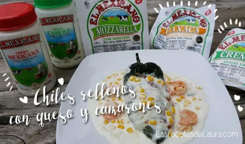 Chiles rellenos con camarones - las recetas de Laura