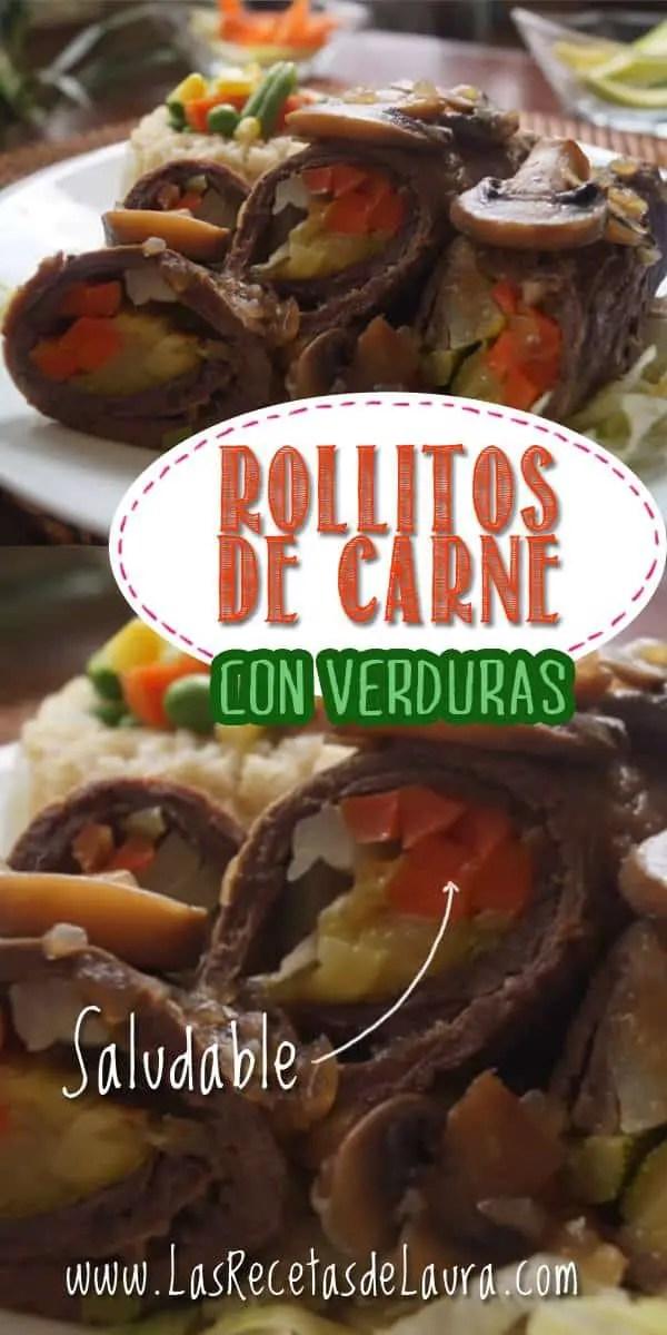 Rollitos de carne con verduras - las recetas de Laura