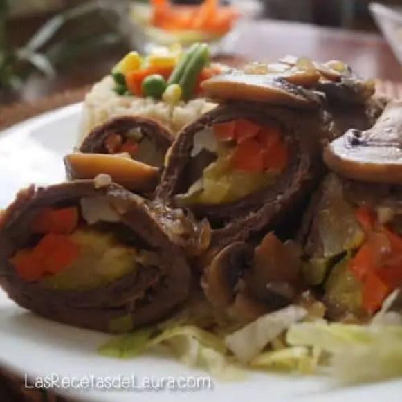 Rollitos de carne con verdura - las recetas de Laura