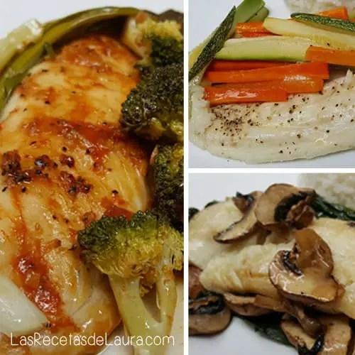 3 recetas de pescado empapelado - las recetas de Laura