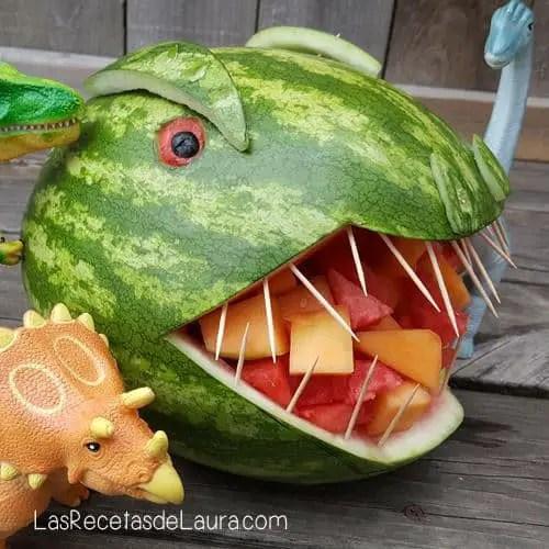 Dinosaurio de sandía - las recetas de Laura