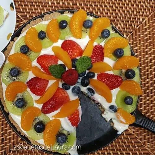 Pizza dulce de pay de queso - las recetas de Laura