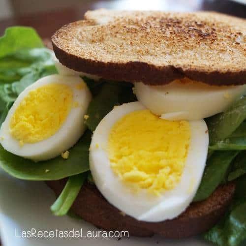 sandwich de huevo - Las Recetas de Laura