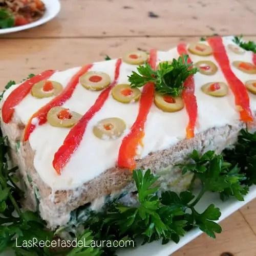 Pastel Frío de Atún - Las recetas de Laura