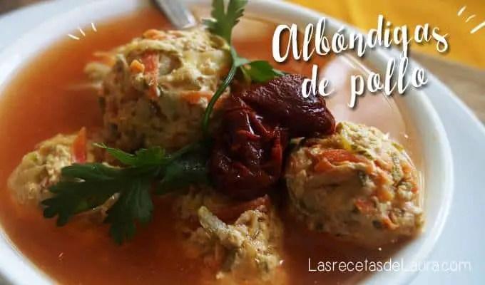 Albondigas de pollo - Las recetas de Laura