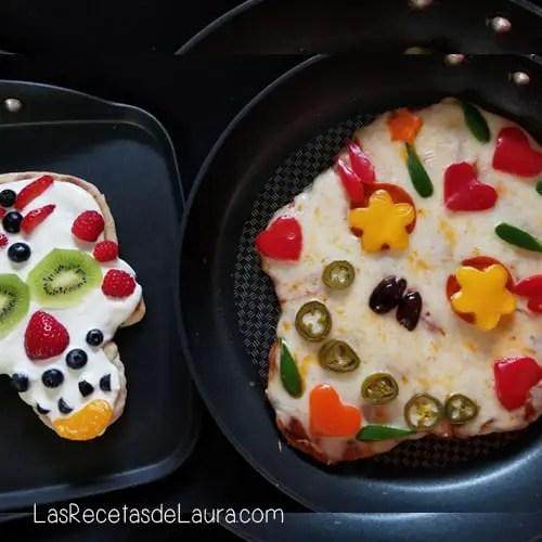 Pizza con forma de calavera - las recetas de laura