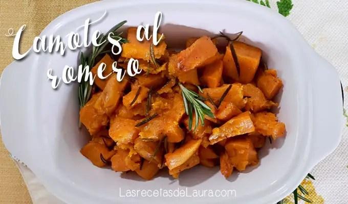 Camotes horneados al romero - las recetas de Laura