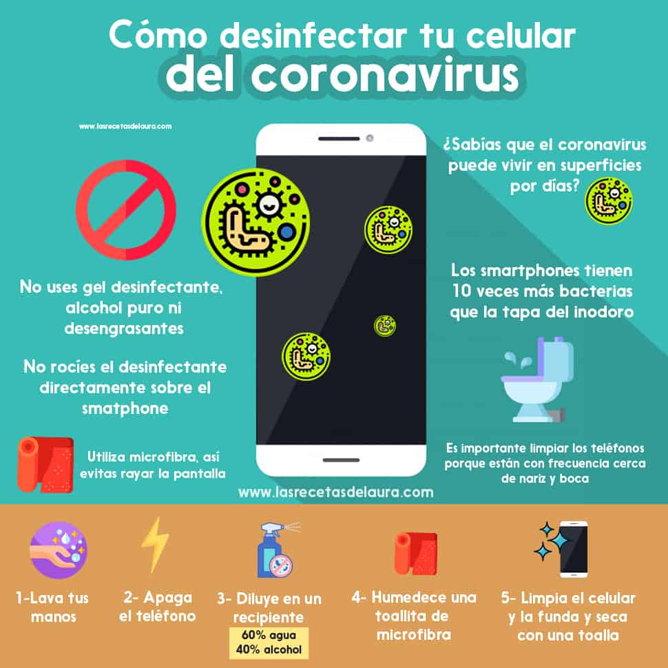 como desinfectar el celular del coronavirus